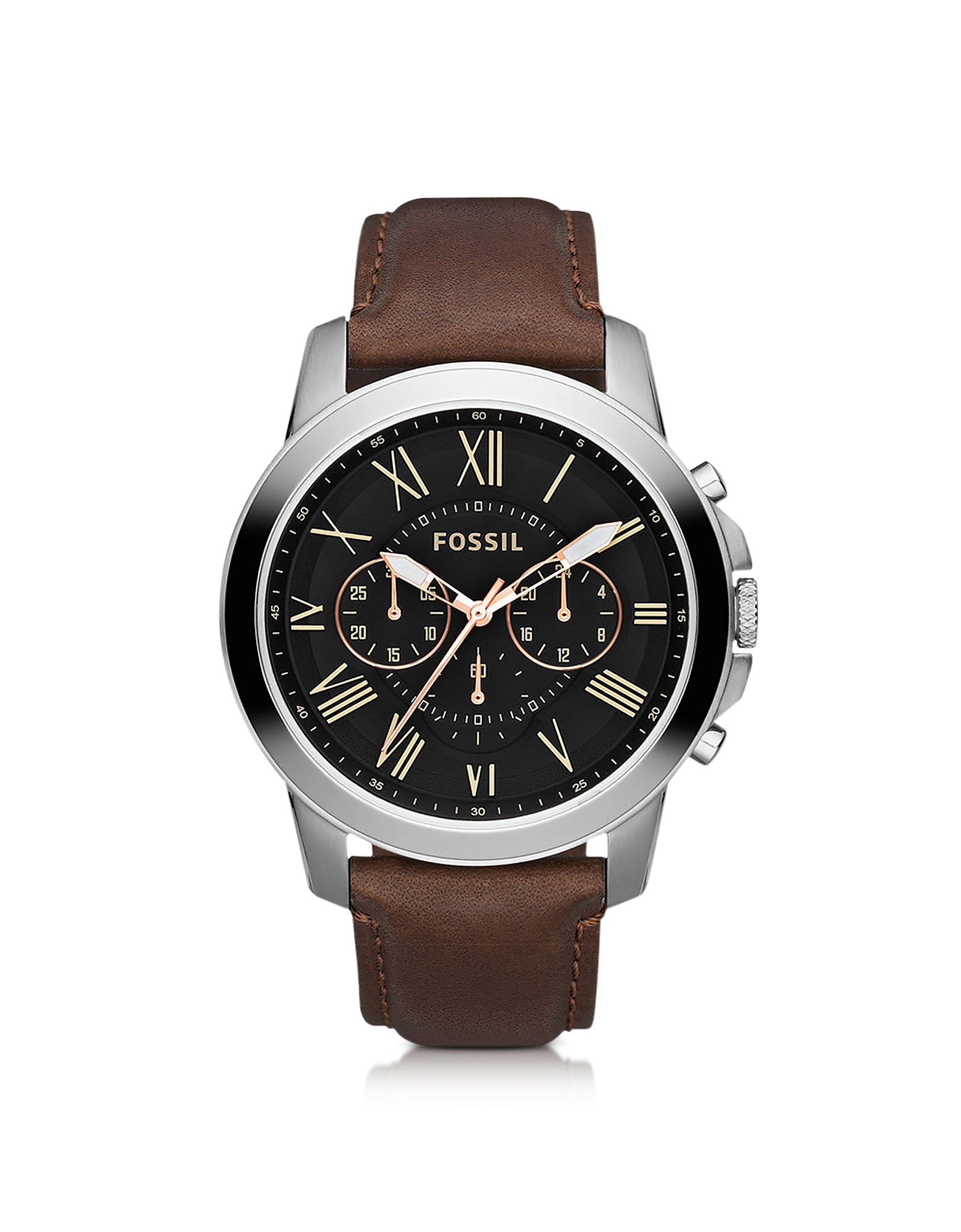 Fossil Men's Watches, Grant Chronograph Leather Men's Watch