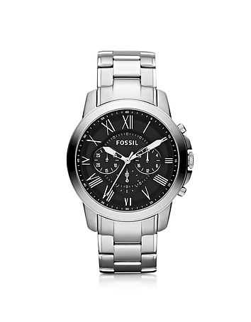 Fossil - Grant Chronograph Silver Stainless Steel Men's Watch