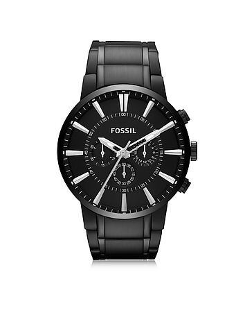 Others Black Stainless Steel Men's Chronograph Watch