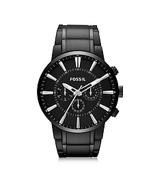 Others Black Stainless Steel Men's Chronograph Watch - Fossil