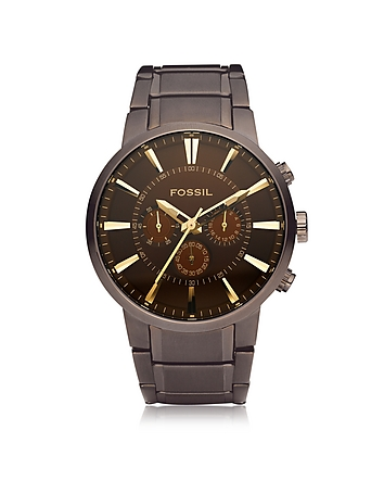 Fossil - Others Brown Stainless Steel Men's Chronograph Watch