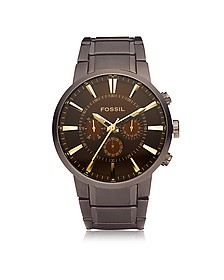 Others Brown Stainless Steel Men's Chronograph Watch - Fossil