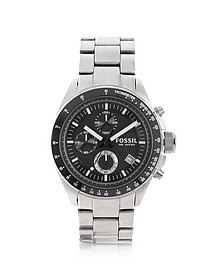 Decker Stainless Steel Chronograph Watch  - Fossil
