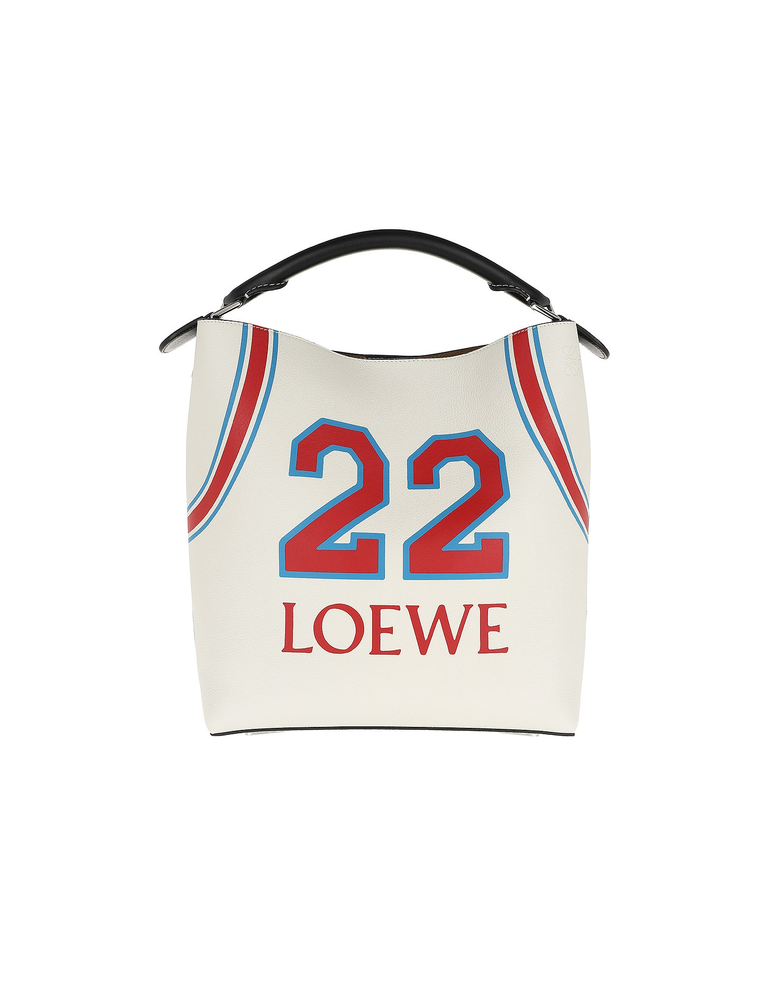 T Bucket Loewe 22 Bag Soft White/Red
