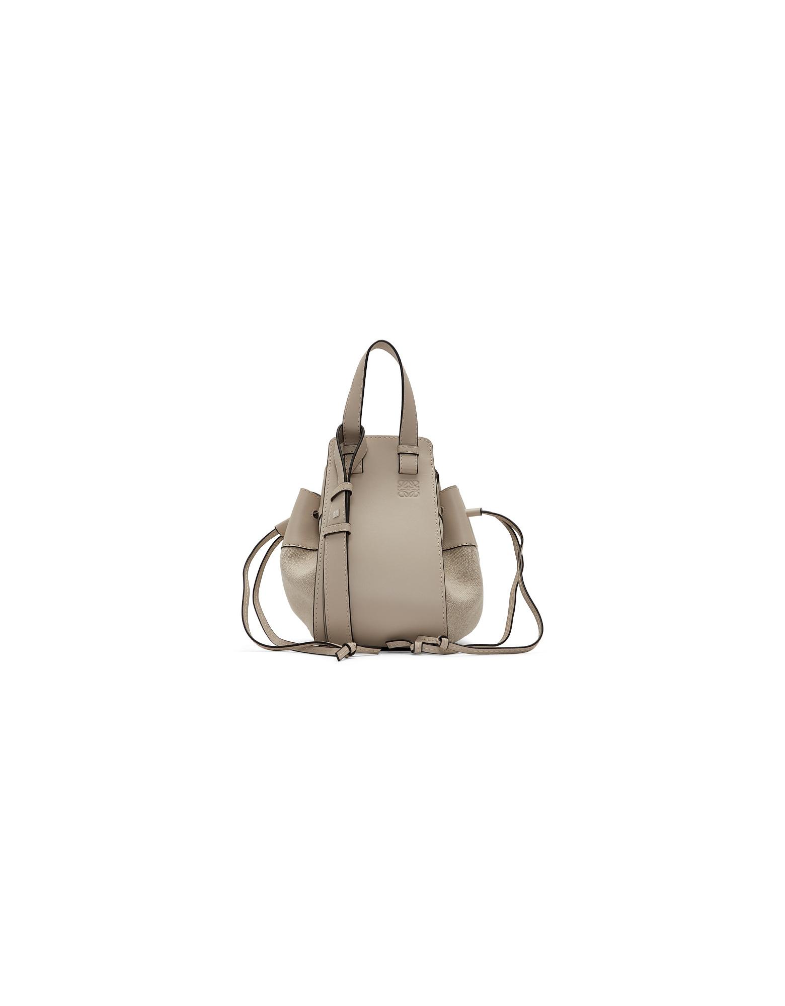 Loewe Designer Handbags, Beige Small Hammock Bag