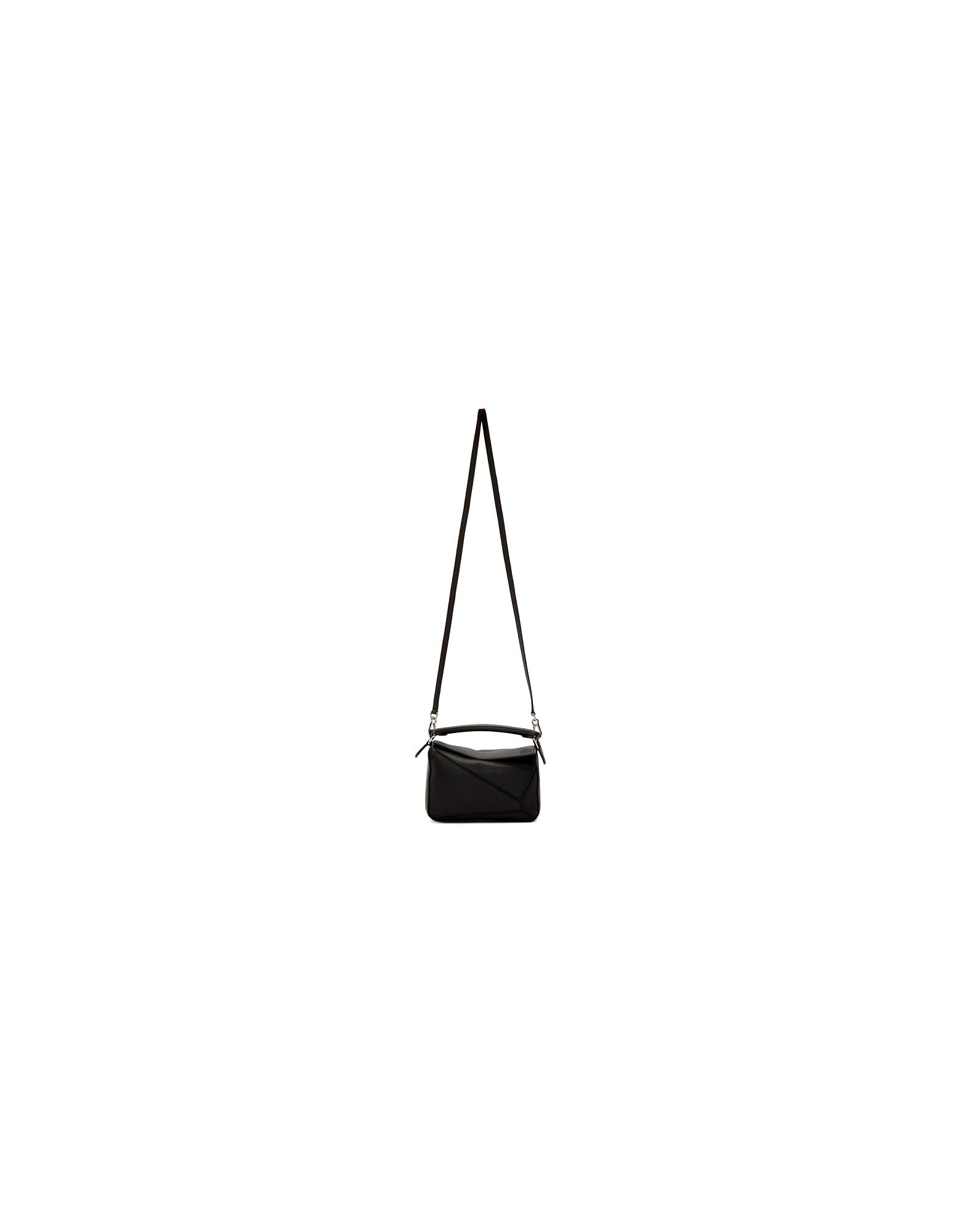 Loewe Designer Handbags, Black Mini Puzzle Bag