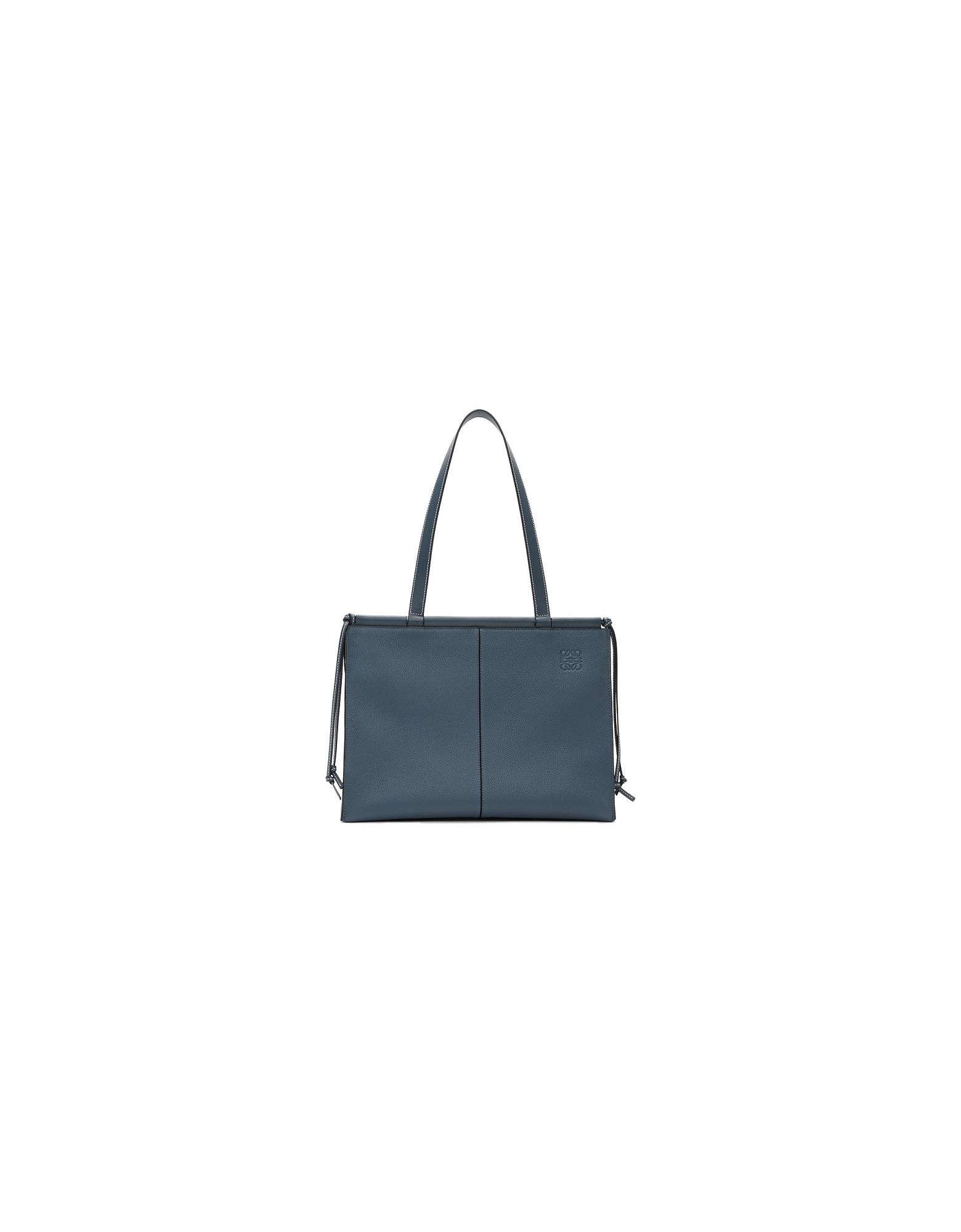 Loewe Designer Handbags, Blue Cushion Tote