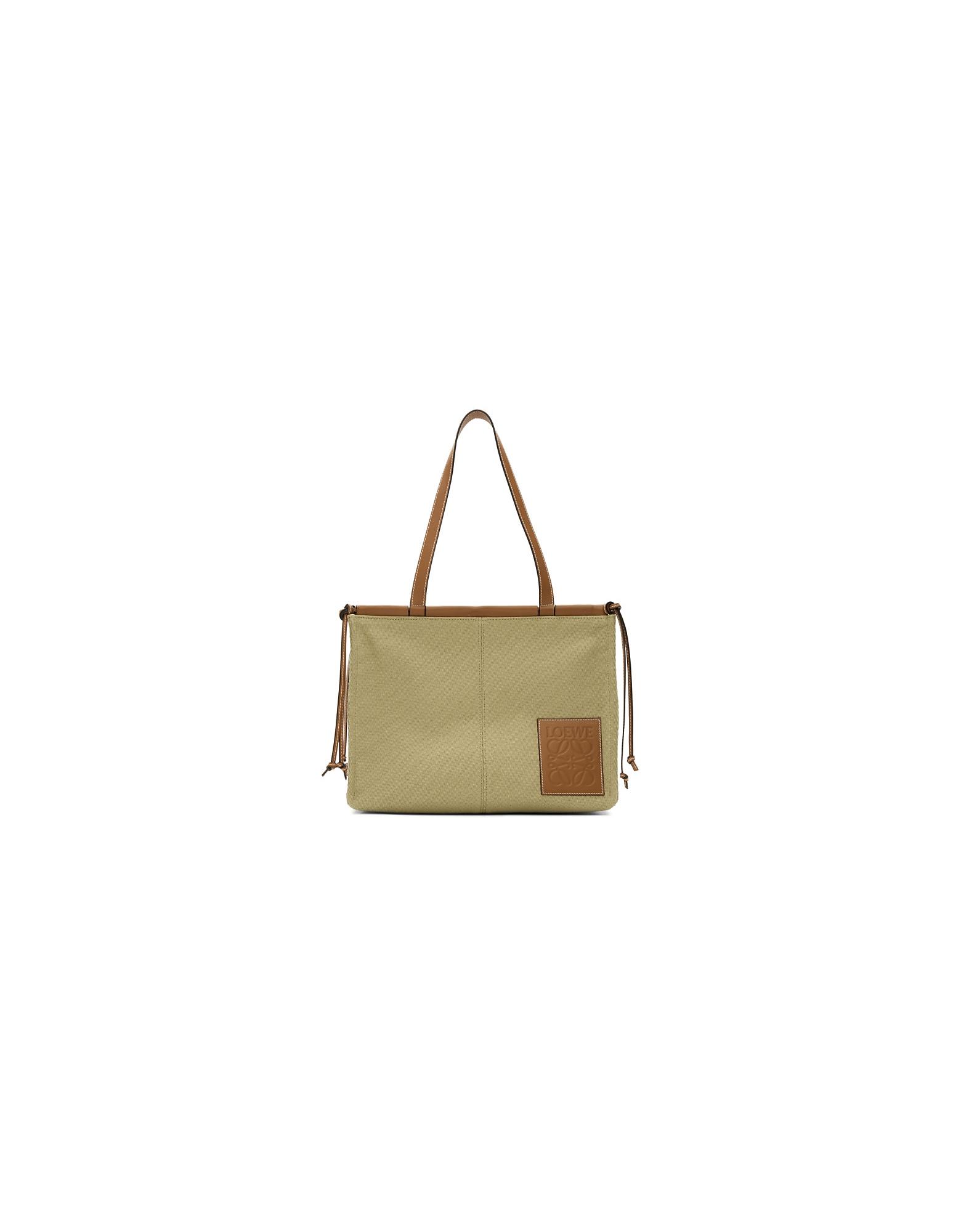 Loewe Designer Handbags, Beige Cushion Tote