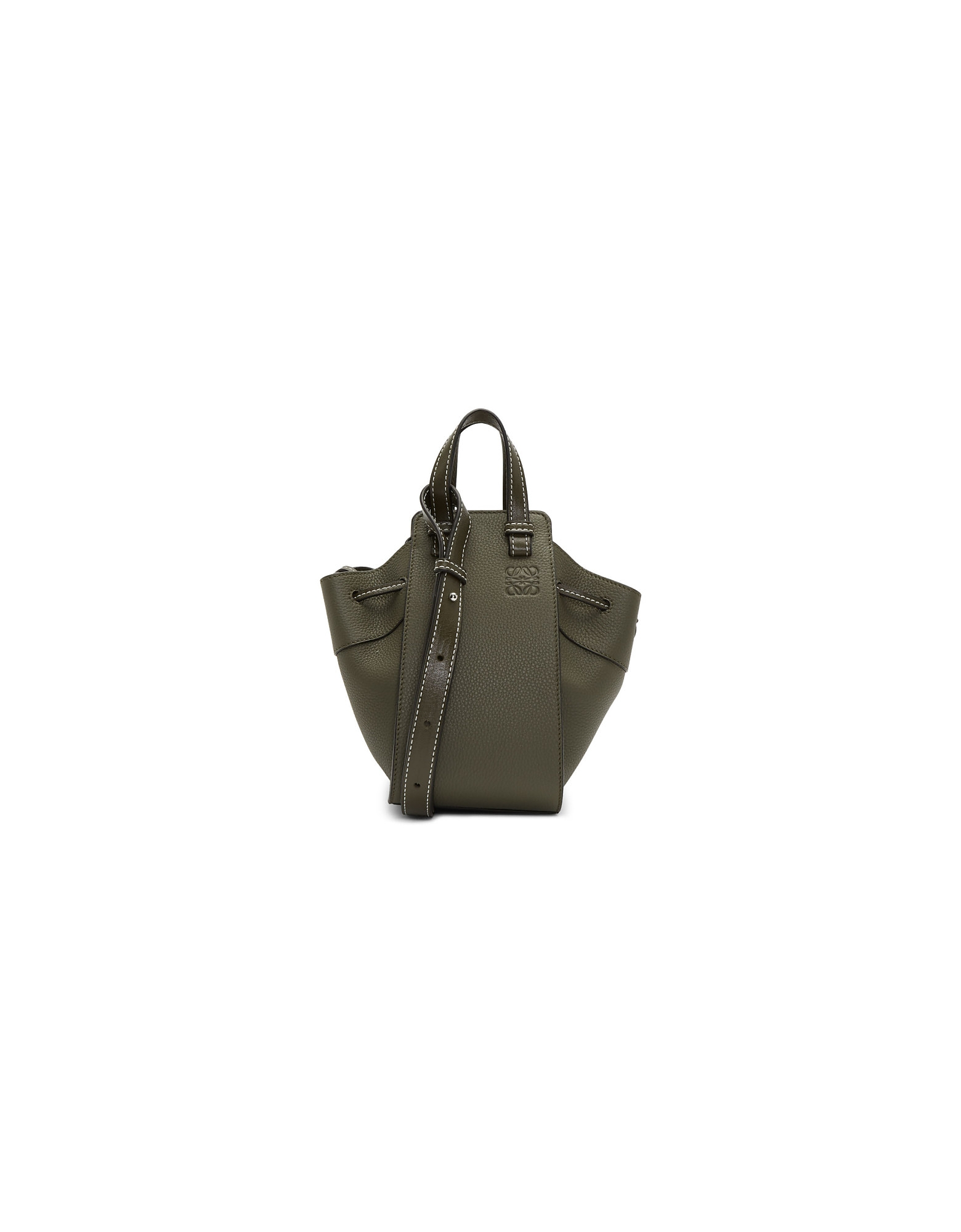 Loewe Designer Handbags, Green Mini Hammock Drawstring Bag
