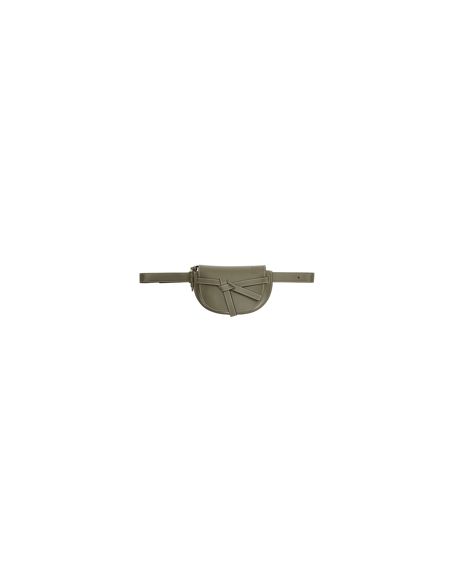 Loewe Designer Handbags, Green Mini Gate Bum Bag