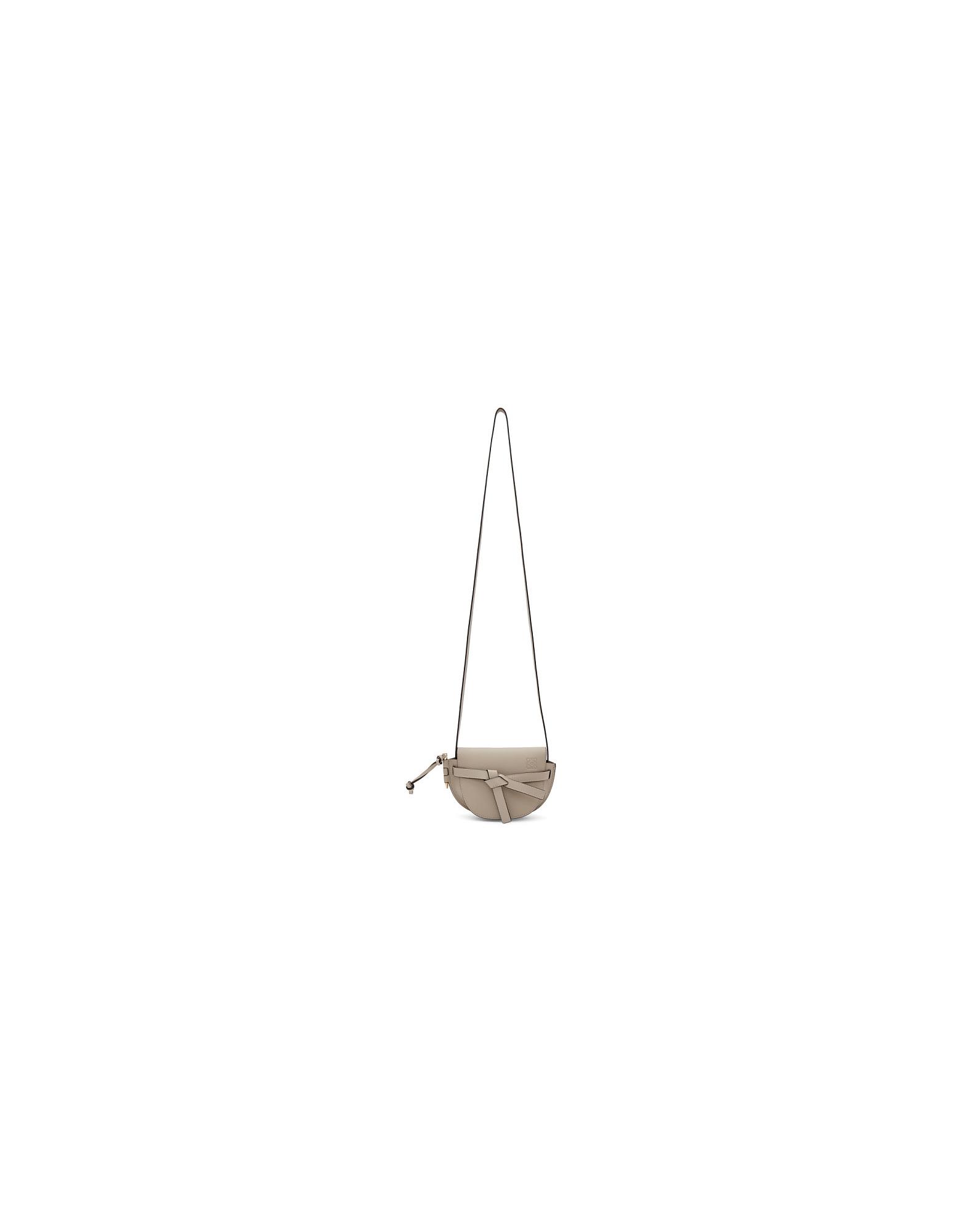 Loewe Designer Handbags, Beige Mini Gate Bag