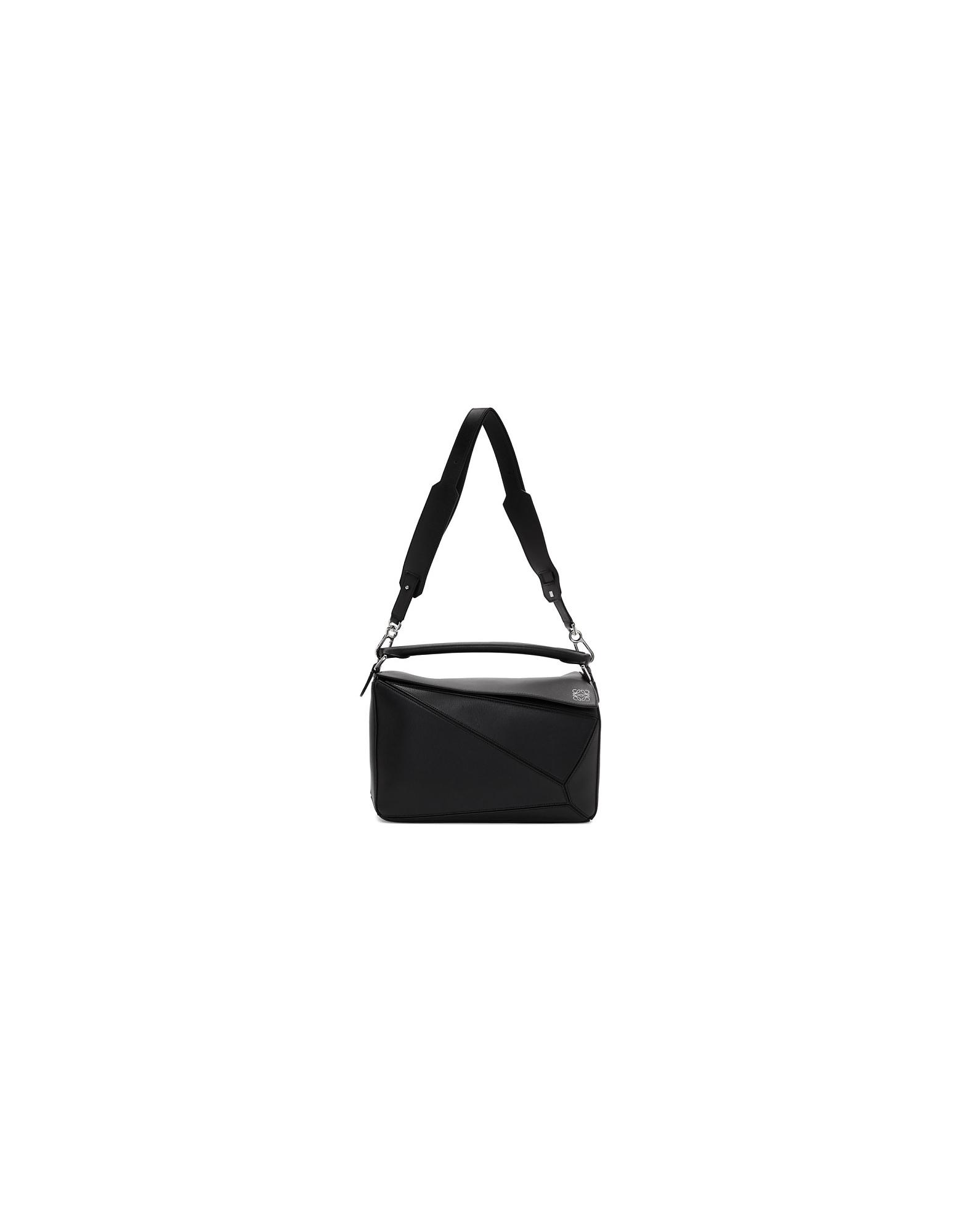 Loewe Designer Handbags, Black Puzzle Bag