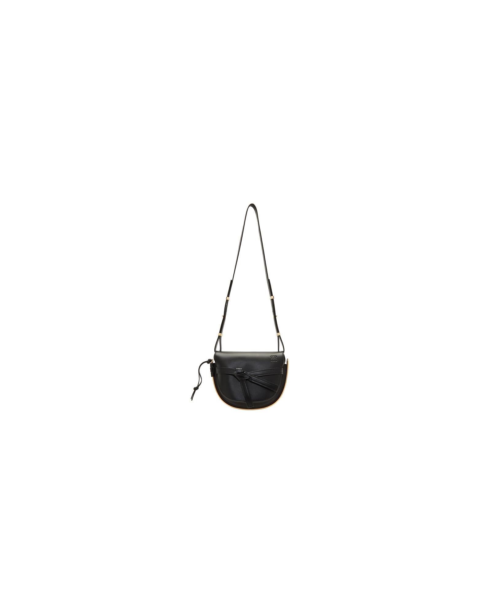 Loewe Designer Handbags, Black Small Gate Frame Bag