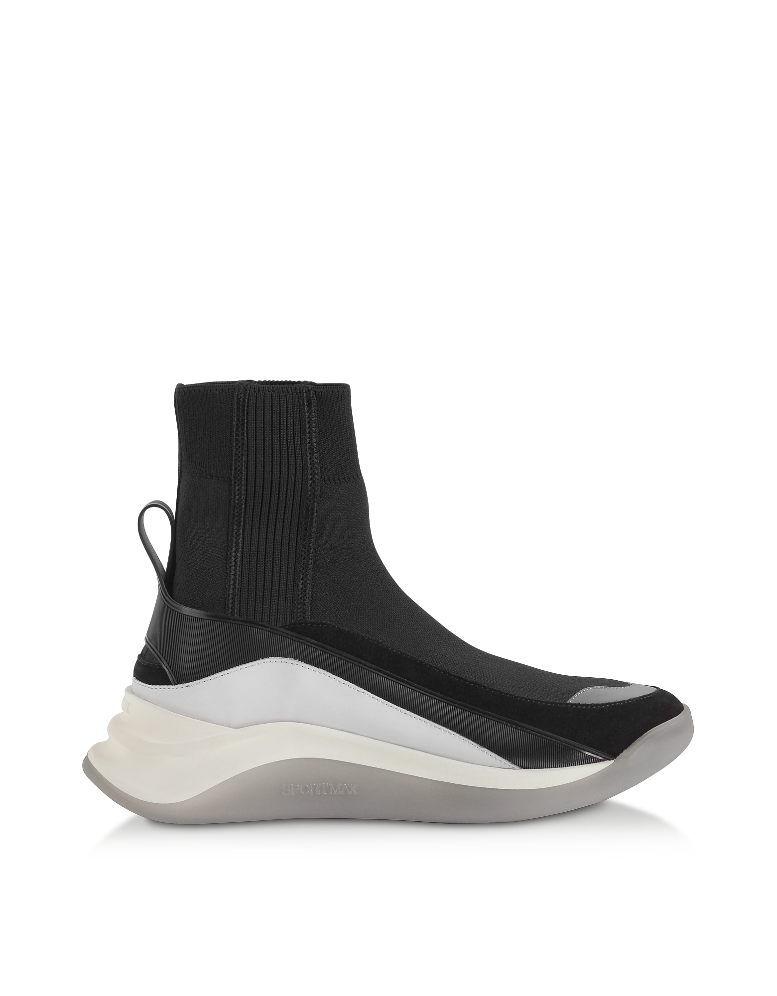SportMax Designer Shoes, Black Ovada Pull-On Sneakers