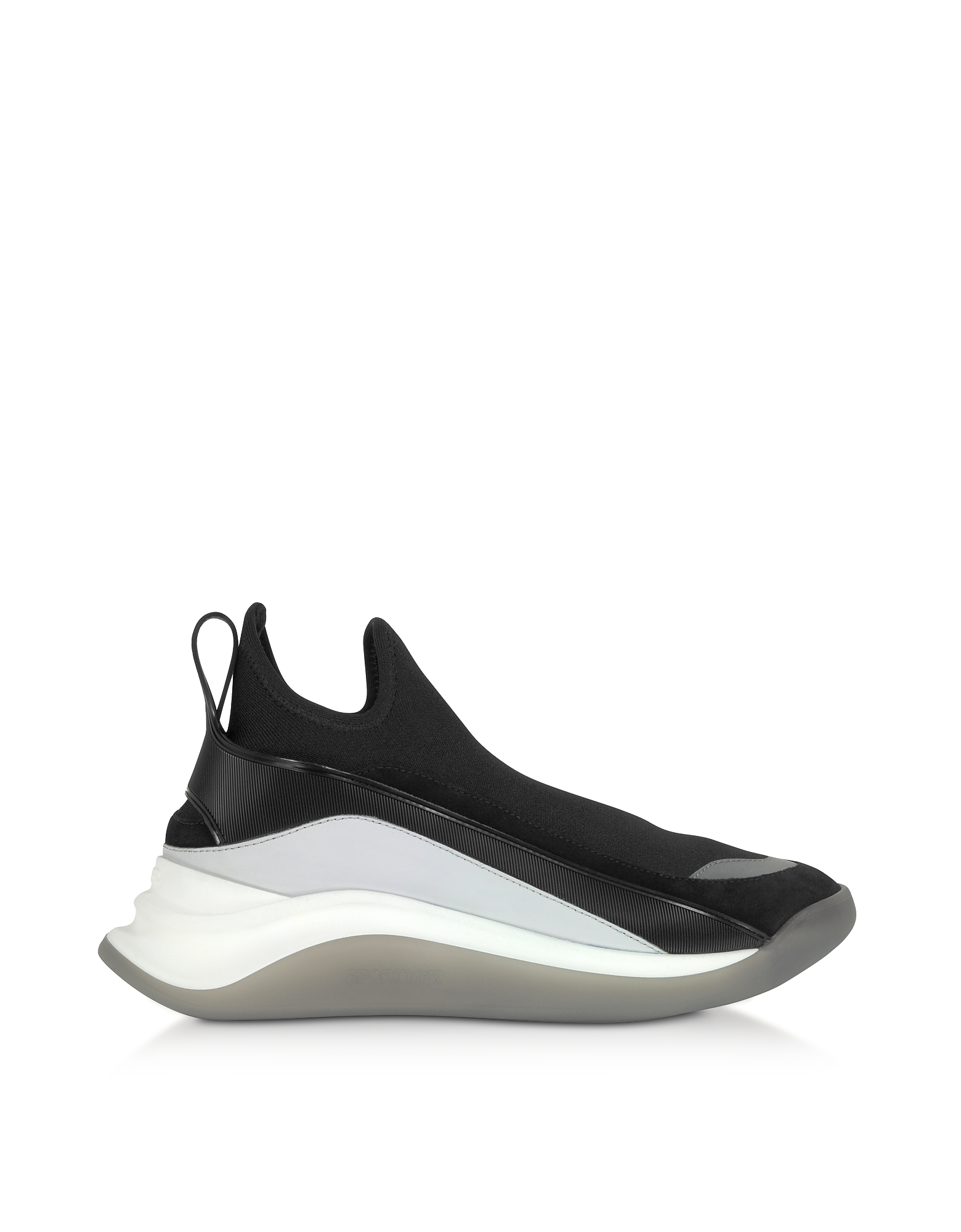 SportMax Designer Shoes, Black High-Performance Futuristic Sneakers