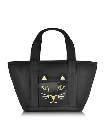 Feline Ami Kitty Black Canvas Tote Bag