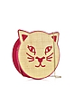 Fiesta Pink Pussycat Small Pouch w/Chain Strap - Charlotte Olympia