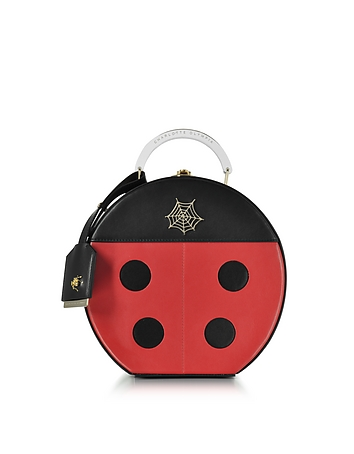 Charlotte Olympia - Black and Red Lucky Atkinson Leather Clutch