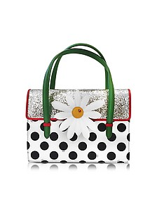 Karung and Patent Leather Botanical Bag w/Glitter - Charlotte Olympia