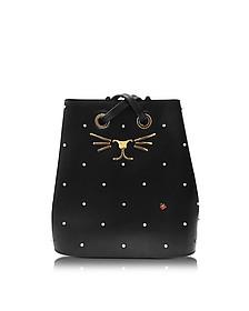 Black Feline Bucket Bag - Charlotte Olympia