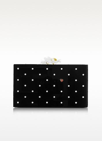 Fresh Pandora Black Perspex Clutch - Charlotte Olympia