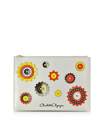 Charlotte Olympia - Factory Off White Leather Pouch