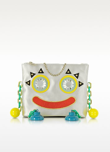 Metal Molly Multicolor Satin Clutch  - Charlotte Olympia