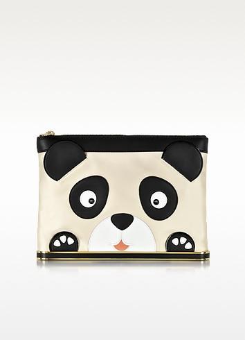 Panda Island Satin Pouch - Charlotte Olympia