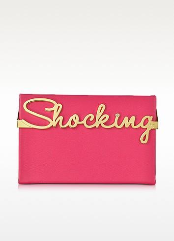 Vanina Shocking Pink Leather Mini Clutch Box - Charlotte Olympia