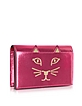 Feline Metallic Leather Purse - Charlotte Olympia