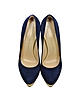 Dolly Navy Blue Platform Pump - Charlotte Olympia