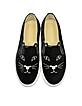 Cool Cats Black Velvet Slip On Sneaker - Charlotte Olympia
