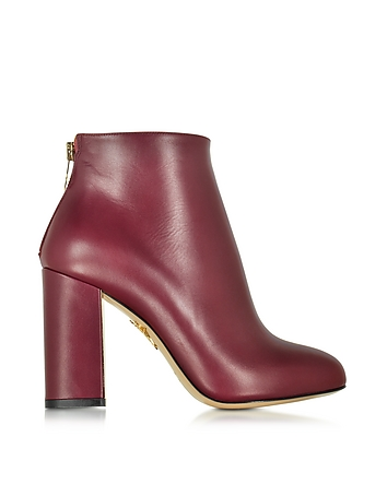 Alba Burgundy Leather Ankle Boot