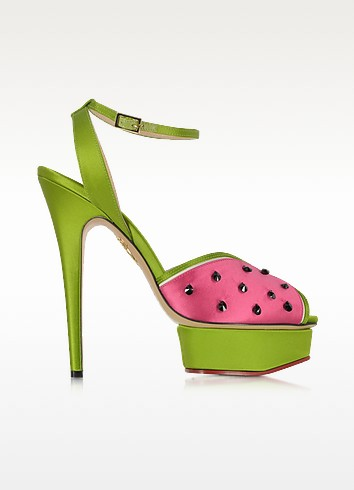 Mouthwatering Platform Sandal w/Crystals - Charlotte Olympia