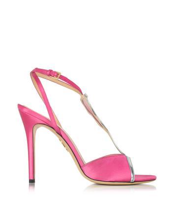 Charlotte Olympia Margarita Fiesta Pink Satin Sandal