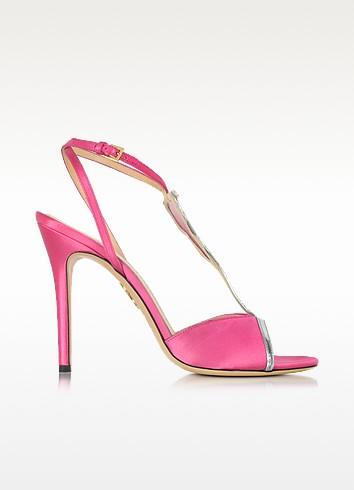Margarita Fiesta Pink Satin Sandal - Charlotte Olympia
