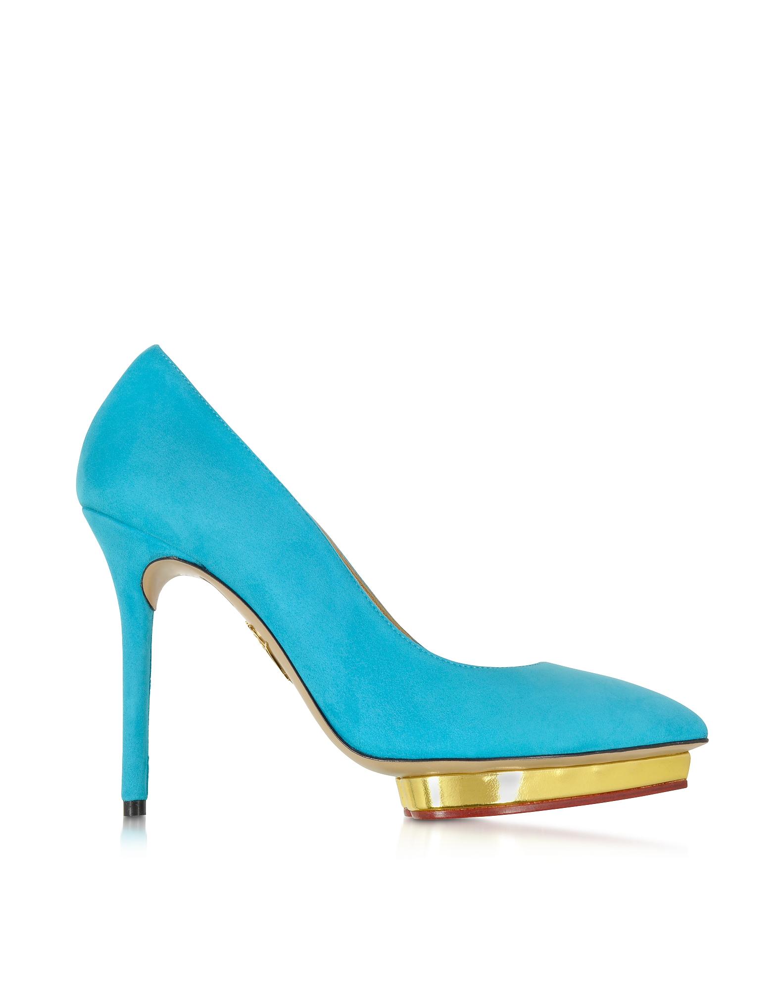 Debbie - Синие Замшевые Туфли-Лодочки на Платформе