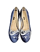 The King Kitty Unplugged Dark Blue Embroidered Velvet Flats - Charlotte Olympia