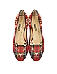 Sex Pistols Kitty Unplugged Tartan Studded Flats - Charlotte Olympia