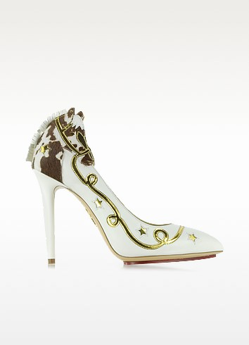 Giddy Up! Bone White Court Pump - Charlotte Olympia