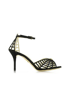 Spinderella Black Suede D'Orsay Sandal - Charlotte Olympia