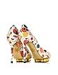 Debbie Kandinsky Print Nappa Leather Pump w/Platform - Charlotte Olympia