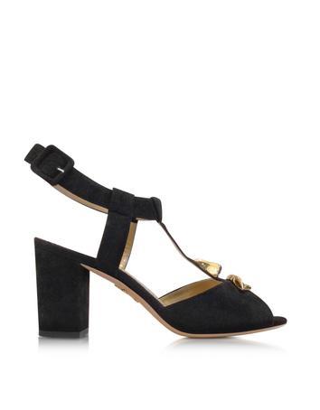 Lux-ID 283997 Gala Black Suede Sandal