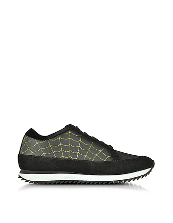 Work It! Black Suede and Neoprene Trainers
