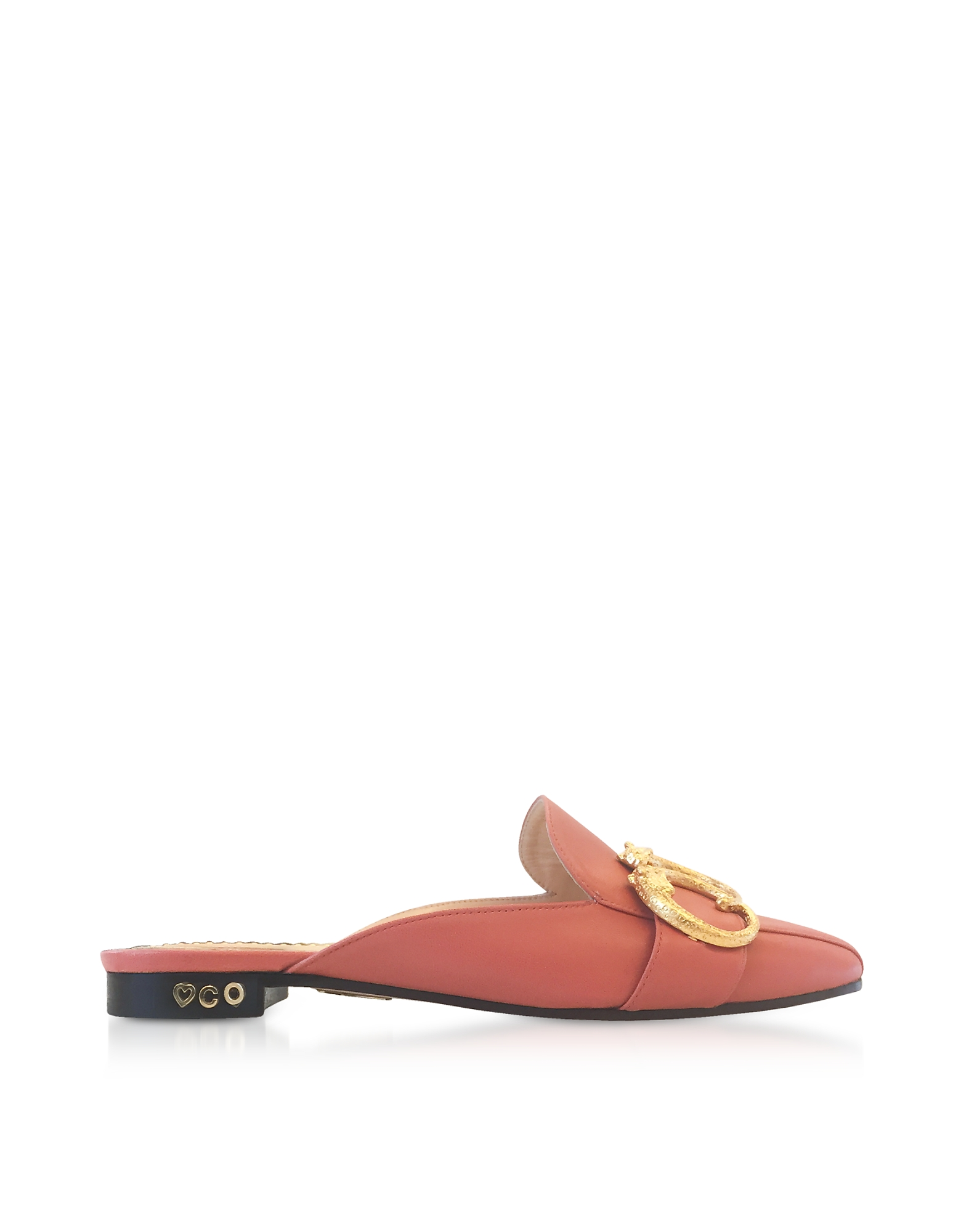 Mules in Nappa Rosa