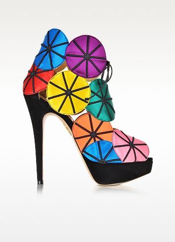 Parasol Multicolour Platform Sandal  - Charlotte Olympia