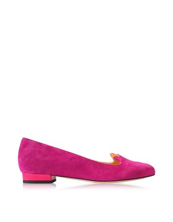 Lux-ID 302065 Perfect Purple Suede Kitty Flats