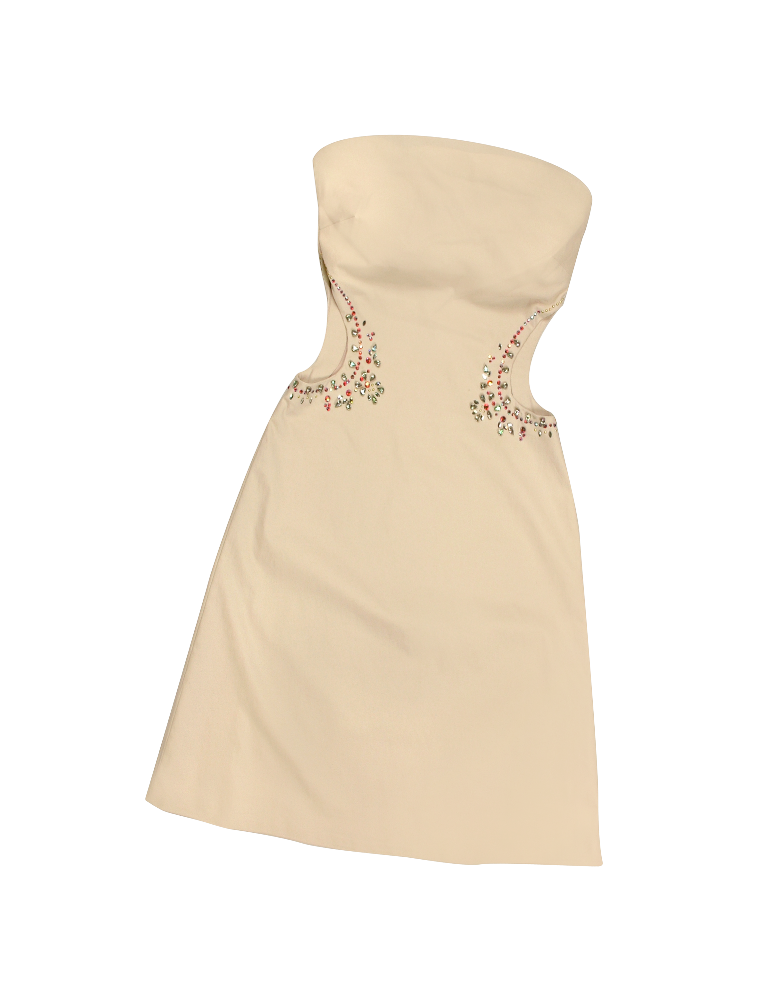 Image of Opale Crystal Decorated Cut Out Strapless Dress
