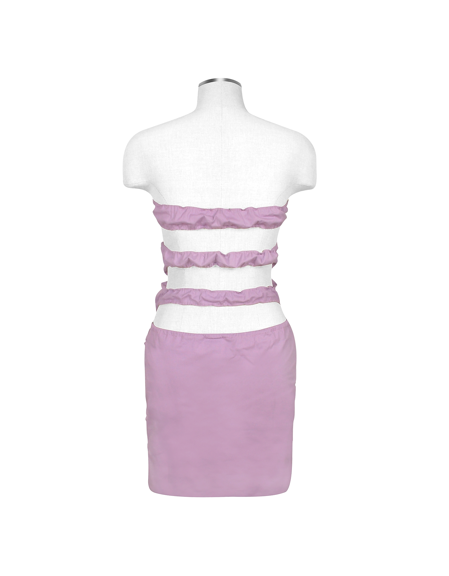 Lavender Cut-out Back Strapless Mini Cotton Dress от Forzieri.com INT