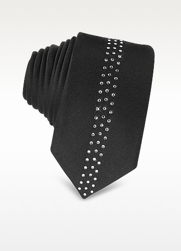 Narrow Crystals Silk Tie - Vitaliano Pancaldi
